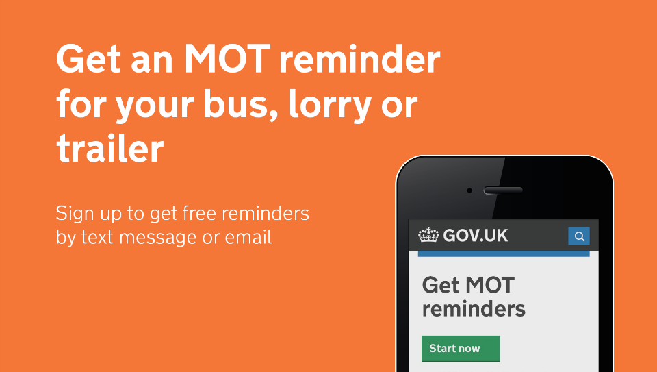 MOT reminders now extended to buses and lorries